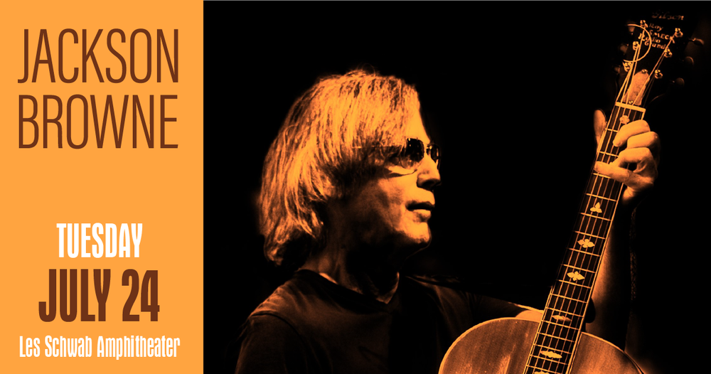 Jackson Browne,  who has written and performed some of the most literate and moving songs in popular music, is headed to  Bend's Les Schwab Amphitheater on July 24 .