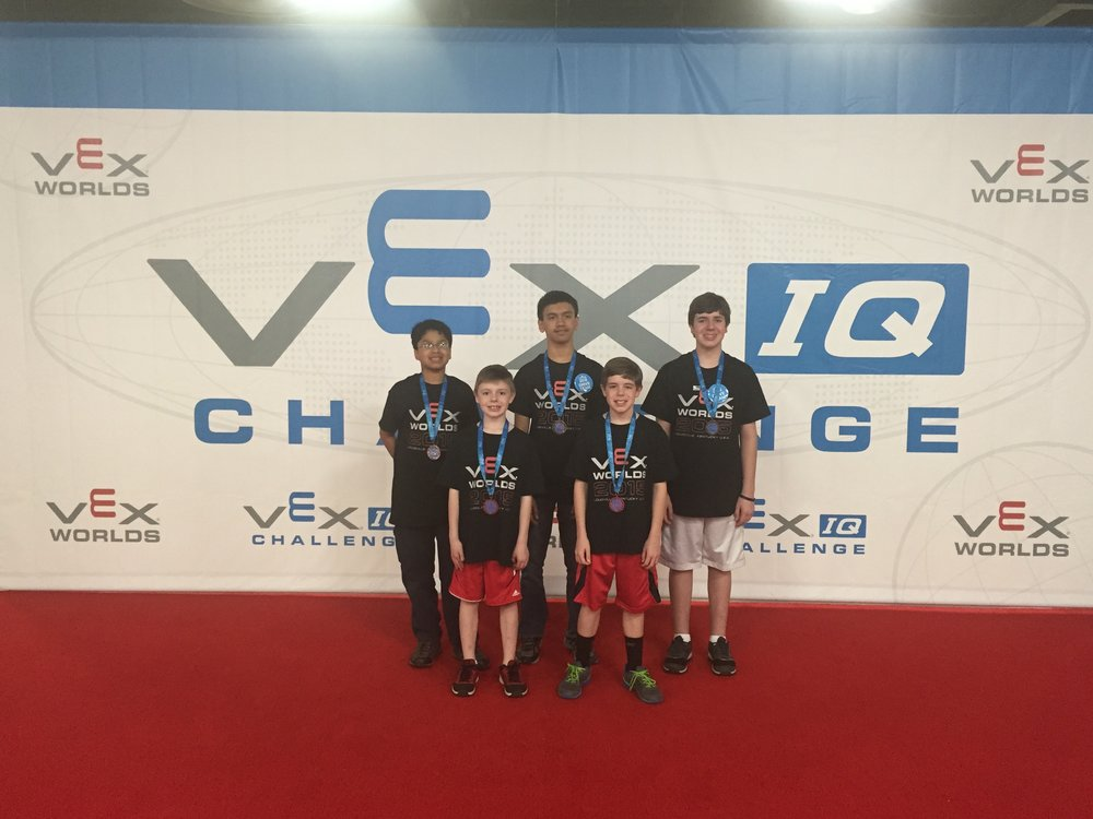 Team 6: Vexothermic Vex IQ: Team 10325   This team made it to worlds in their first season. Winning multiple awards at local and state competitions.