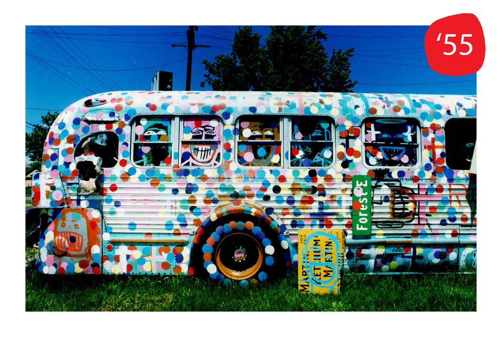 Move to the Rear, Rosa Parks Bus by Tyree Guyton