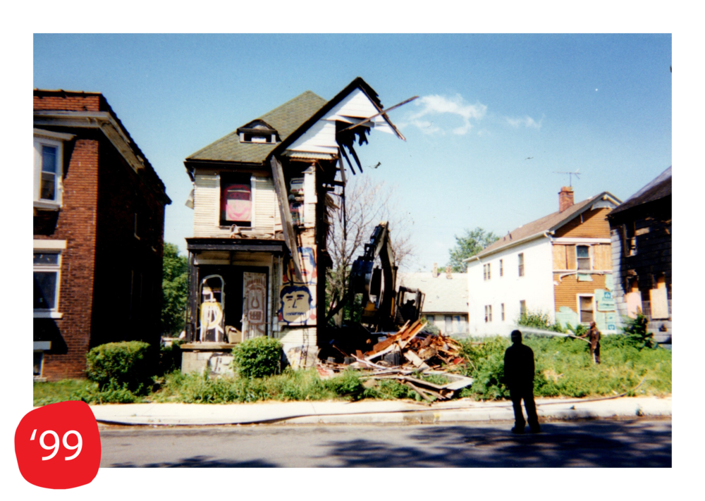 Face House  is razed during the 1999 demolitions
