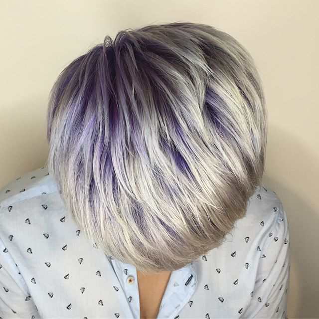 #platinumblonde with a purple #shadowroot for the lovely Hayley! Using @wellahair and @pravana 💜💜💜 @loneandco #loneandco . . . . . . . #platinumblonde #platinumhair #purplehair #pravana #hair #hairstyles #haircolor #hairenvy #toronto #torontohair #torontohairstylist #torontohairsalon #riverdale #riverside #queeneast #leslieville #olaplex