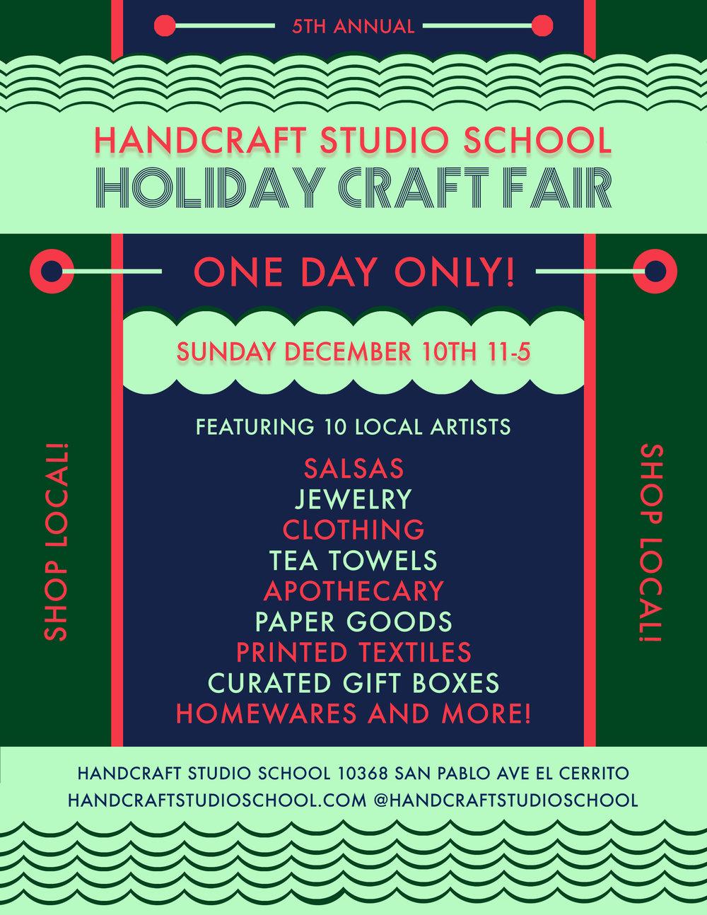 Handcraft Studio Holiday Sale