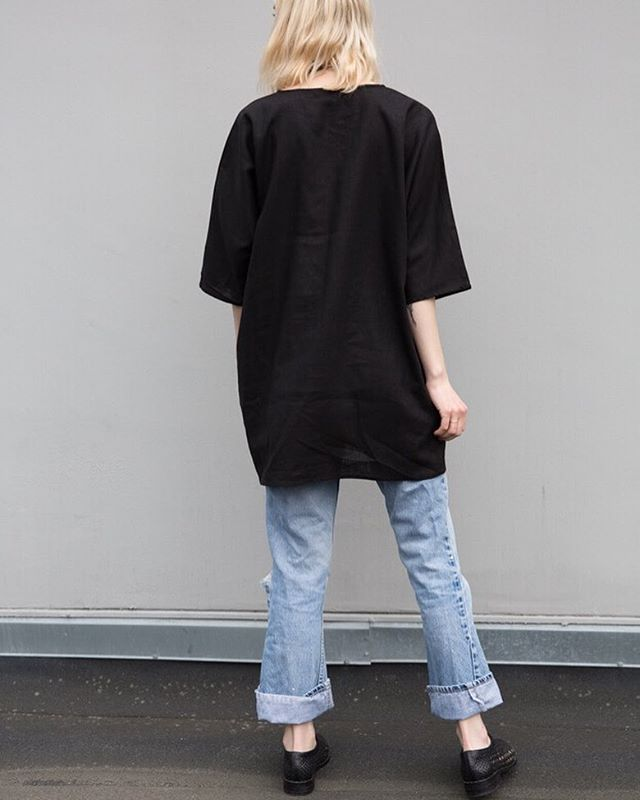 We have a couple of these black tunics left at @morningtide.shop. . . . .  #hygge #style #fashion #sfmade #design #ootd #ss18 #ethicalfashion #naturalfiber #ethicallymade #simpleisbetter #minimal #madeinusa #americanmade #womenownedbusiness #oakland #sanfrancisco #shape #proportion #slowfashion #shoplocal #textile #womenswear