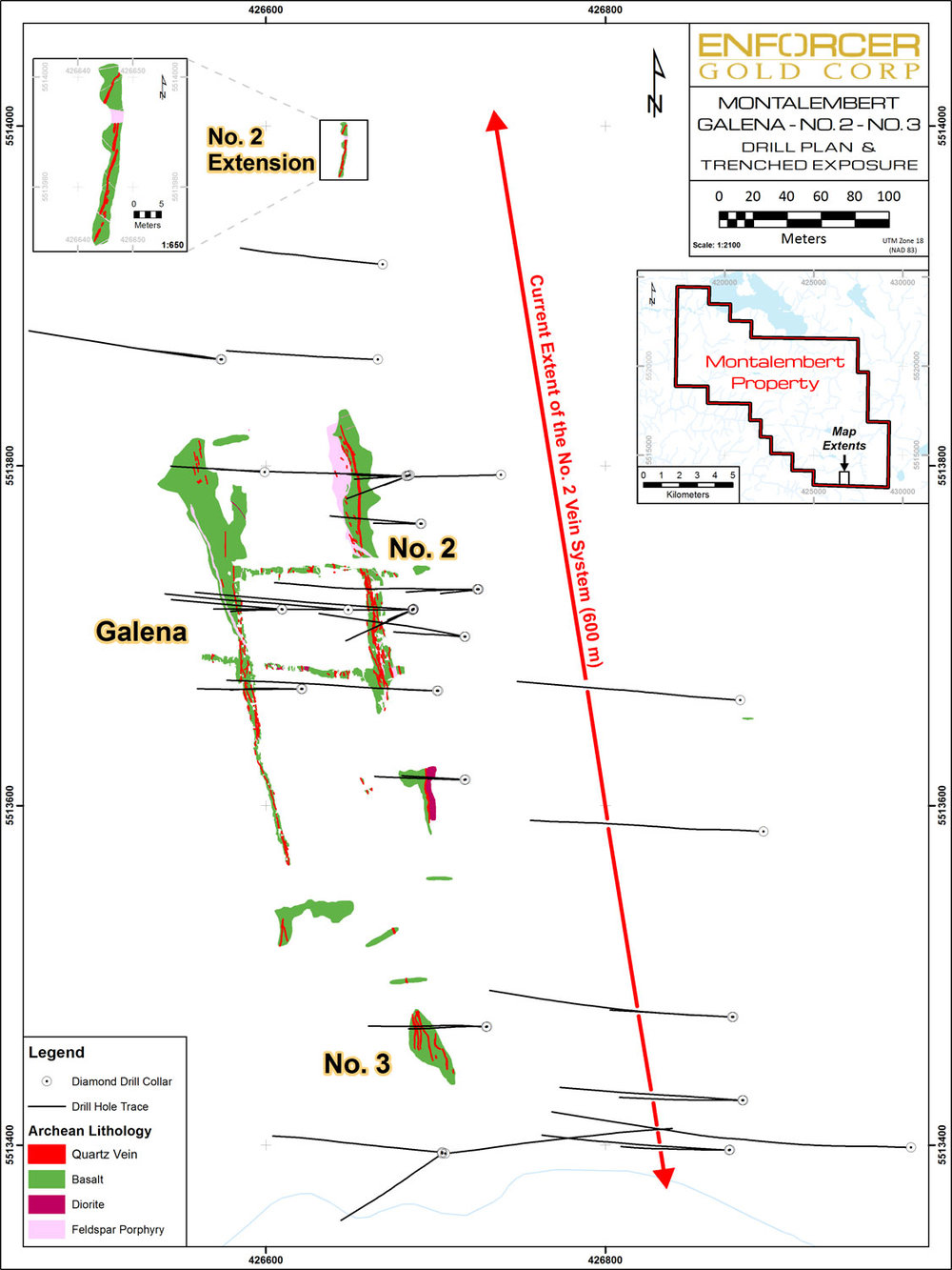 Drill Plan and Trenched Exposure