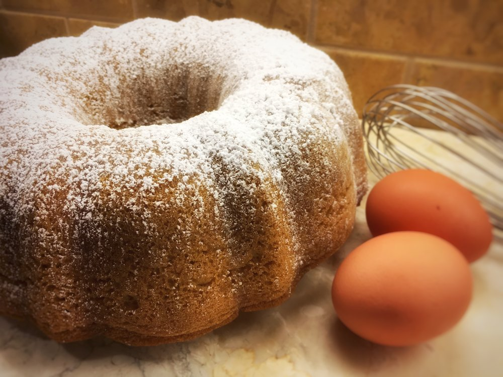 full-size lemon bundt cake