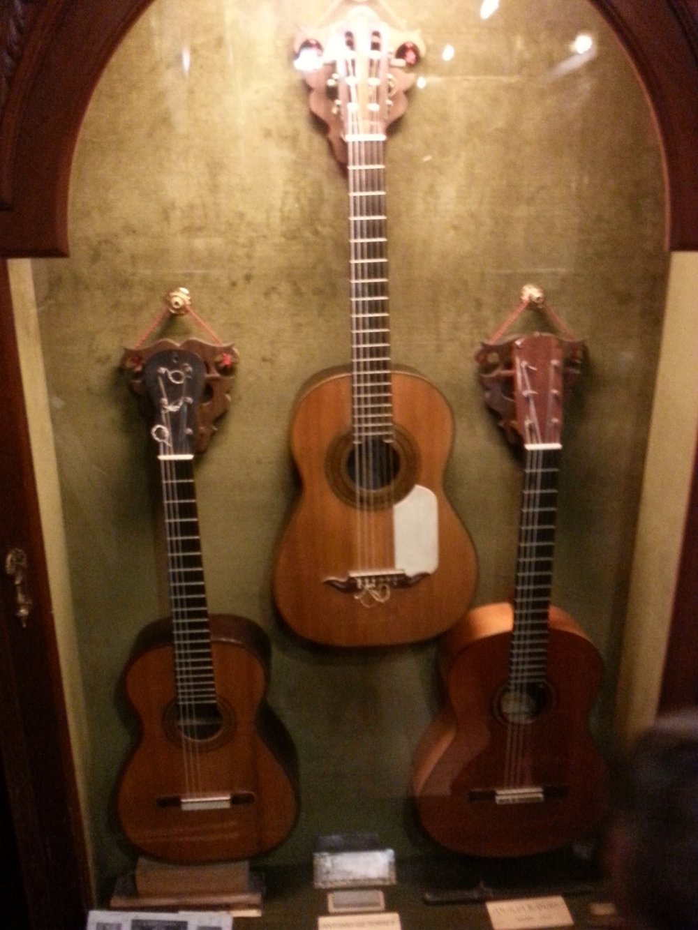 "Some of the guitars there! In the middle we see the  ""Antonio de Torres""."