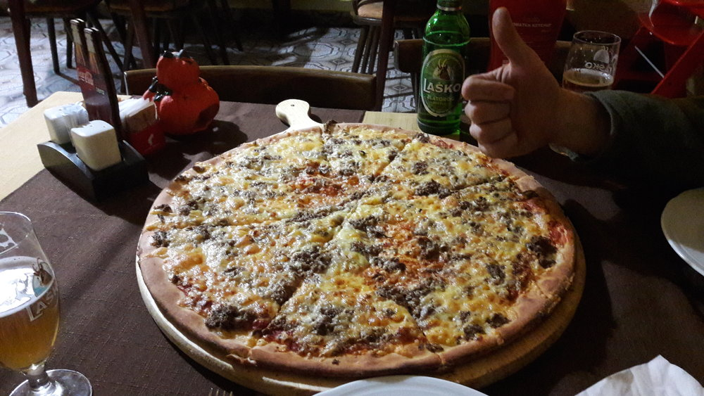We finished the last day with this 60 cm big Family pizza, Only 12 euro's !!!
