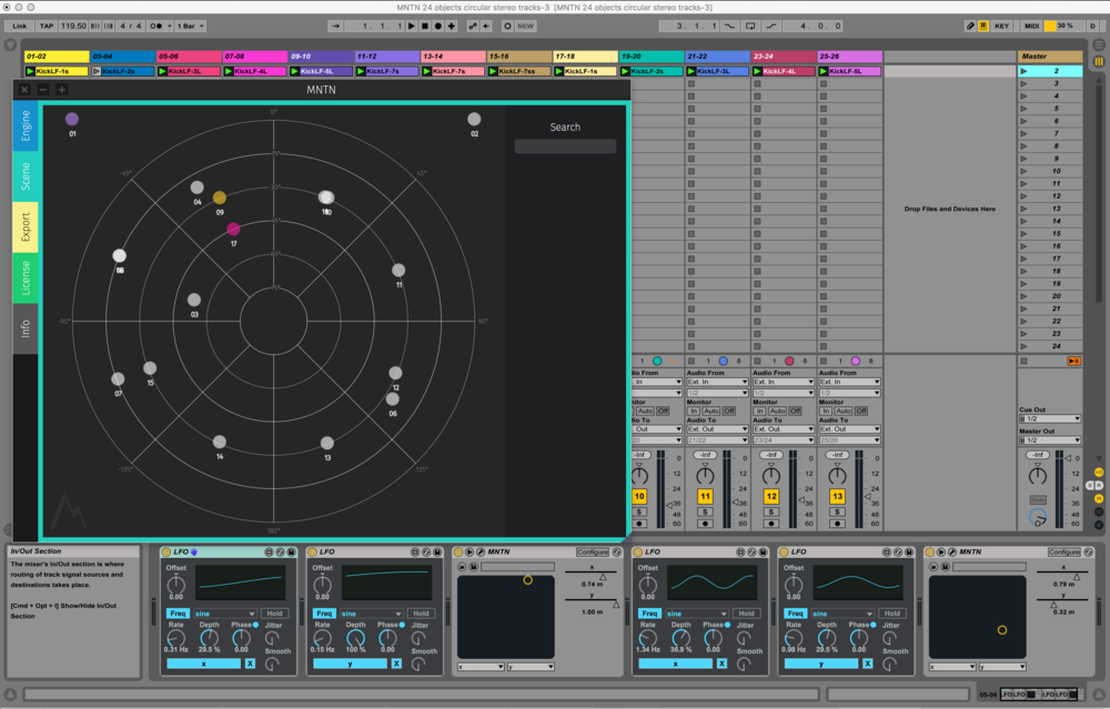 Figure 12 - MNTN, the software was developed with the idea of enabling the production of immersive sound, 2017.