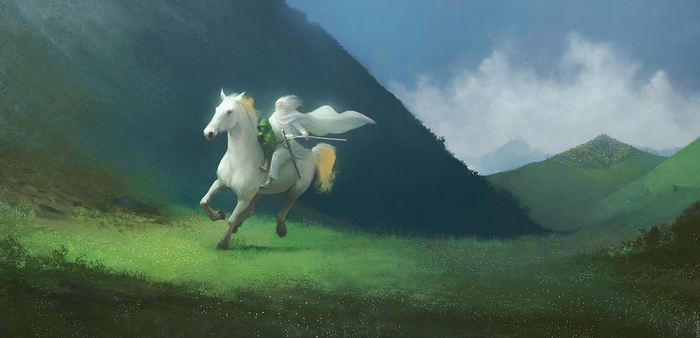 """The White Rider"" by RalphDamiani on Deviant Art"