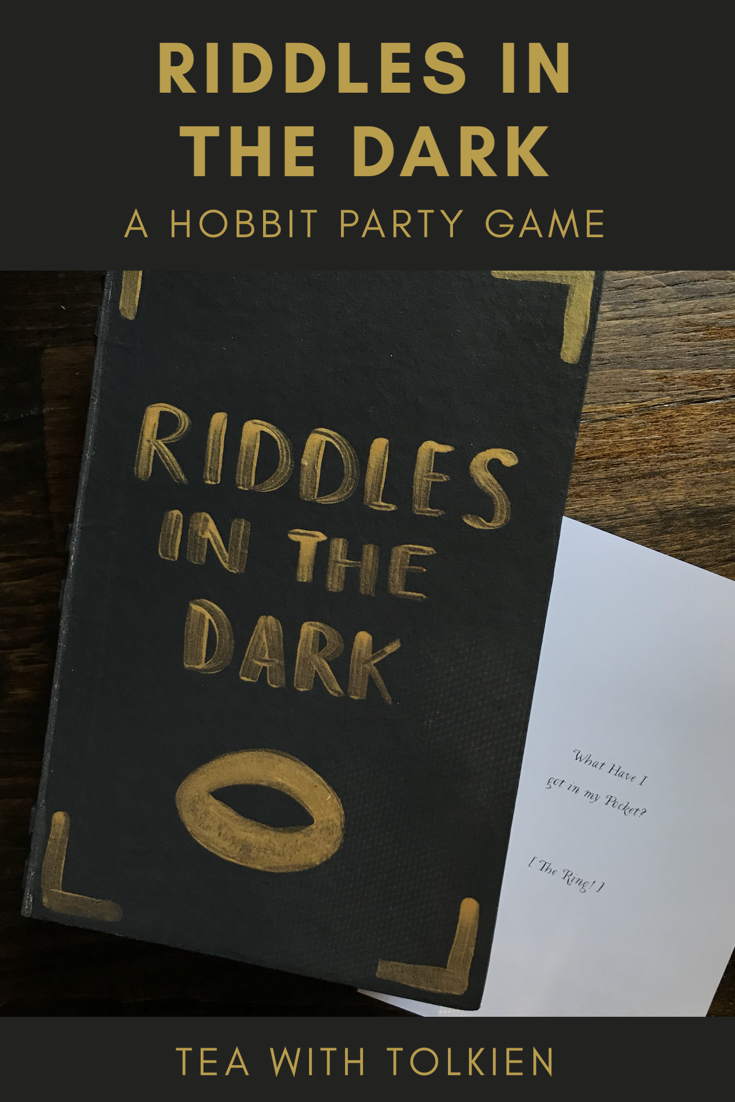 picture about Printable Trunk Party Games titled Riddles inside the Darkish (Hobbit Social gathering Video game) Tea with Tolkien