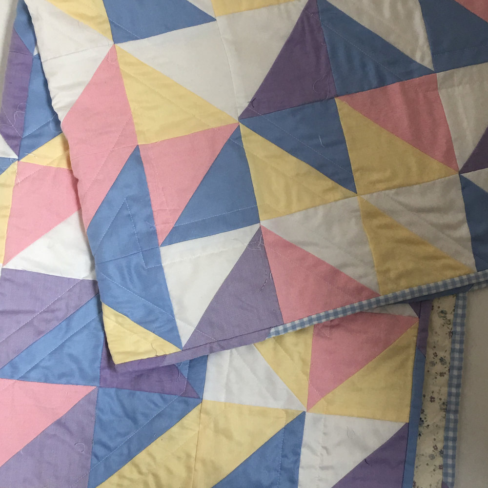pastel baby quilt that i finally finished! i think i cut out fabric for this at least a year ago.