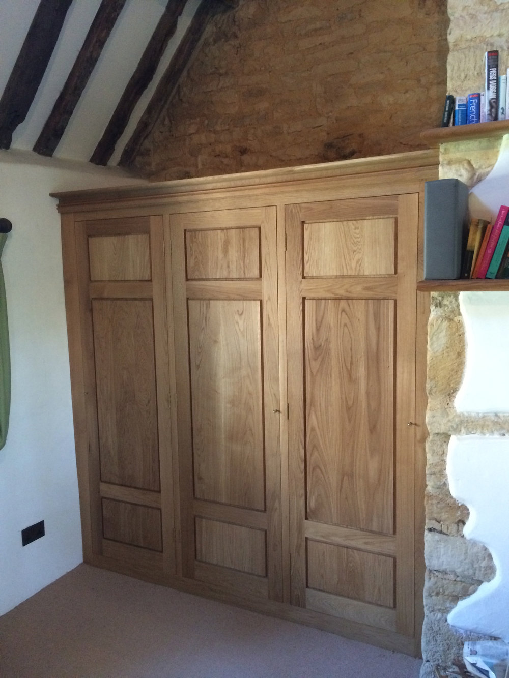 Oak fitted wardrobes