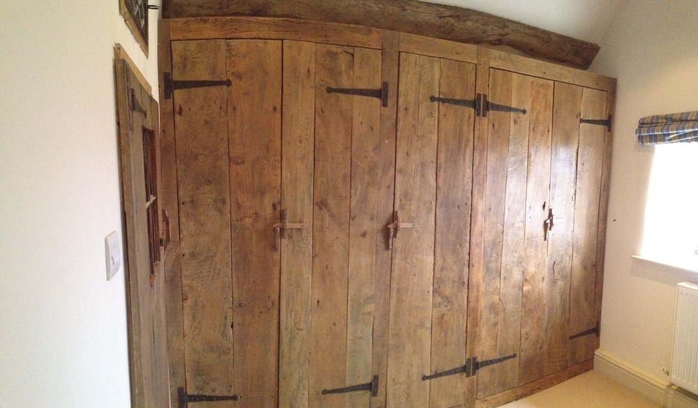 Old elm plank wardrobe