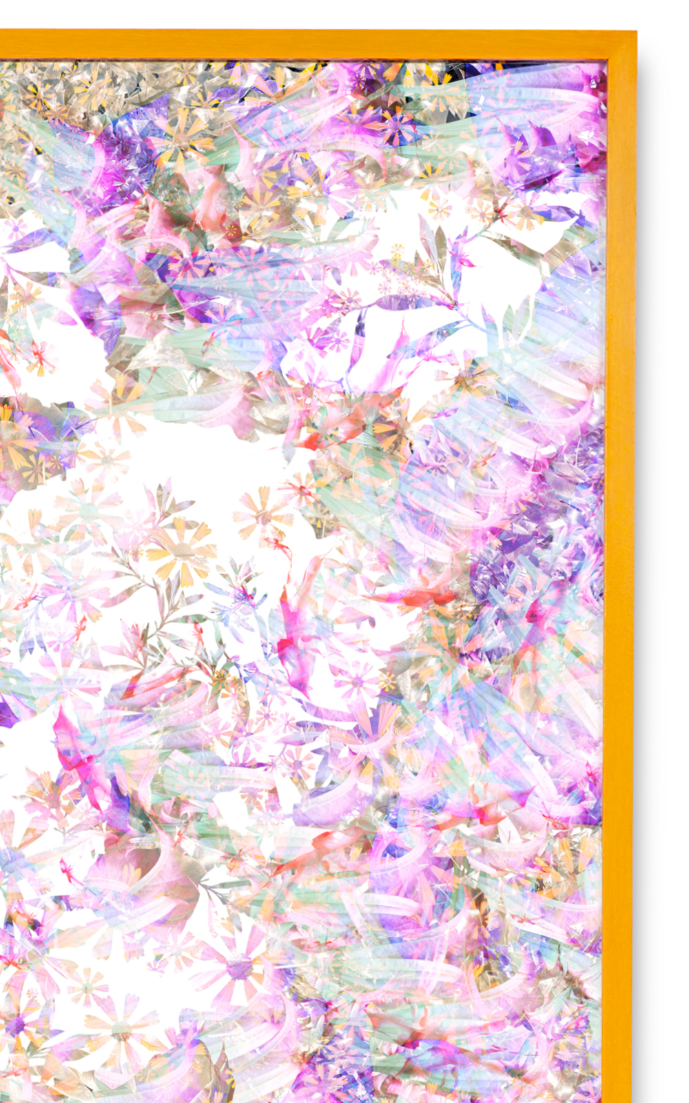 Case Simmons, Simmons & Burke, Angel Tears, Still Lives and Common Names, Metallic Print, Digital Collage,Digital Art, Photoshop Collage, Contemporary Collage,Case Simmons Art, Collage Fine Art, Abstract Digital Collage, Kohn Gallery