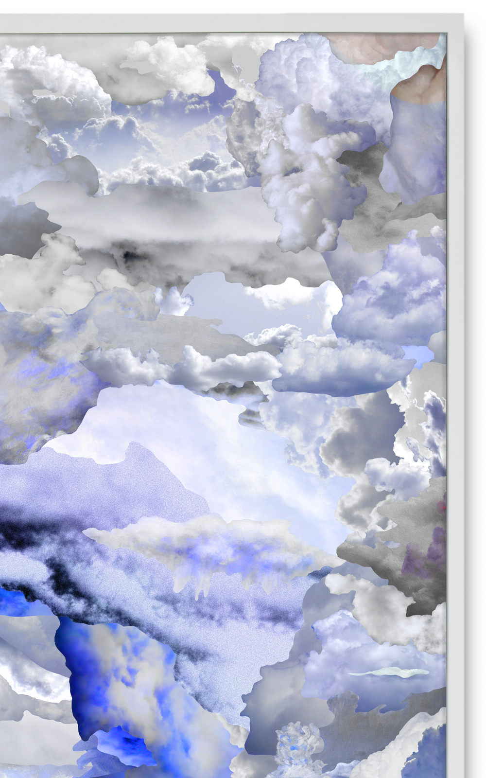 Case Simmons, Simmons & Burke, Blue Clouds A, Cloud Collage, Pigment Print, Digital Collage, Digital Art, Photoshop Collage, Contemporary Collage, Case Simmons Art, Collage Fine Art, Abstract Digital Collage, LACMA Acquisition, Kohn Gallery