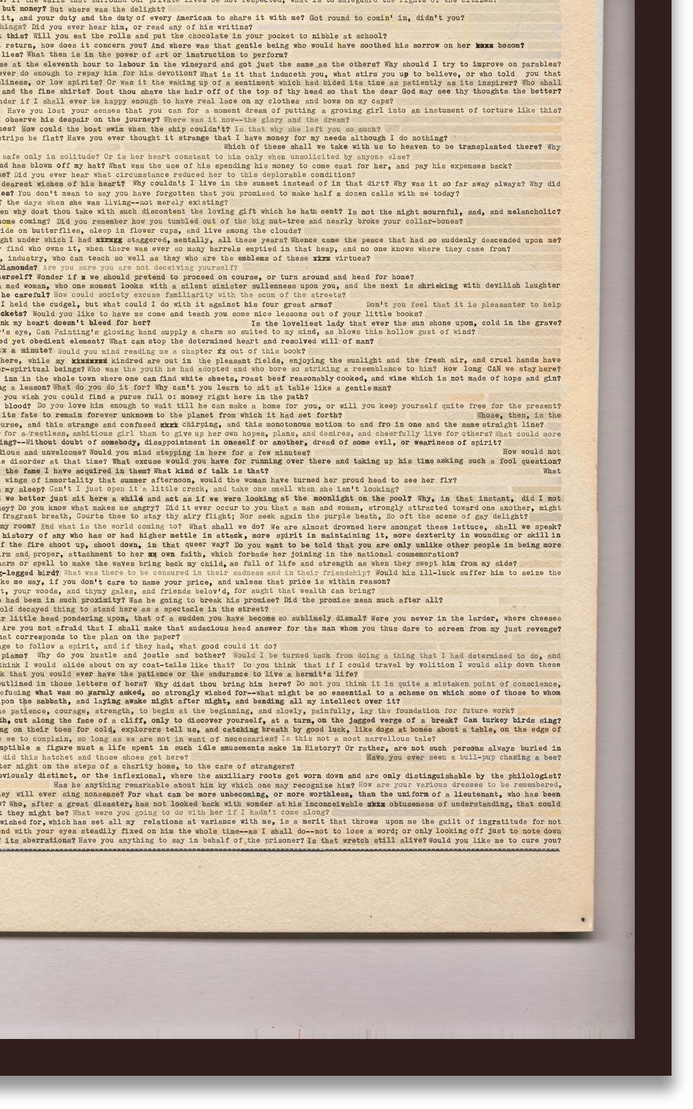 Case Simmons, Simmons & Burke, Score Collage Poem #3, SMMoA, Santa Monica Museum of Art,Digital Collage,Digital Art, Case Simmons Art, Text Art, Font Art, Typewriter Art, Photoshop Collage, Livrivox, Fiction Art, Internet Archive