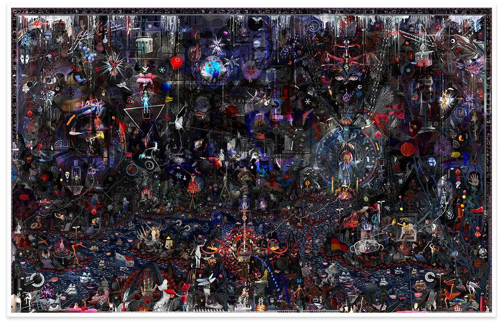 Case Simmons, Simmons & Burke, If Not Winter #1, Kohn Gallery, Hieronymus Bosch, Lightjet Print, Digital Collage,Digital Art, Photoshop Collage, Contemporary Collage,Case Simmons Art, Collage Fine Art, Hyper Collage, Future Collage