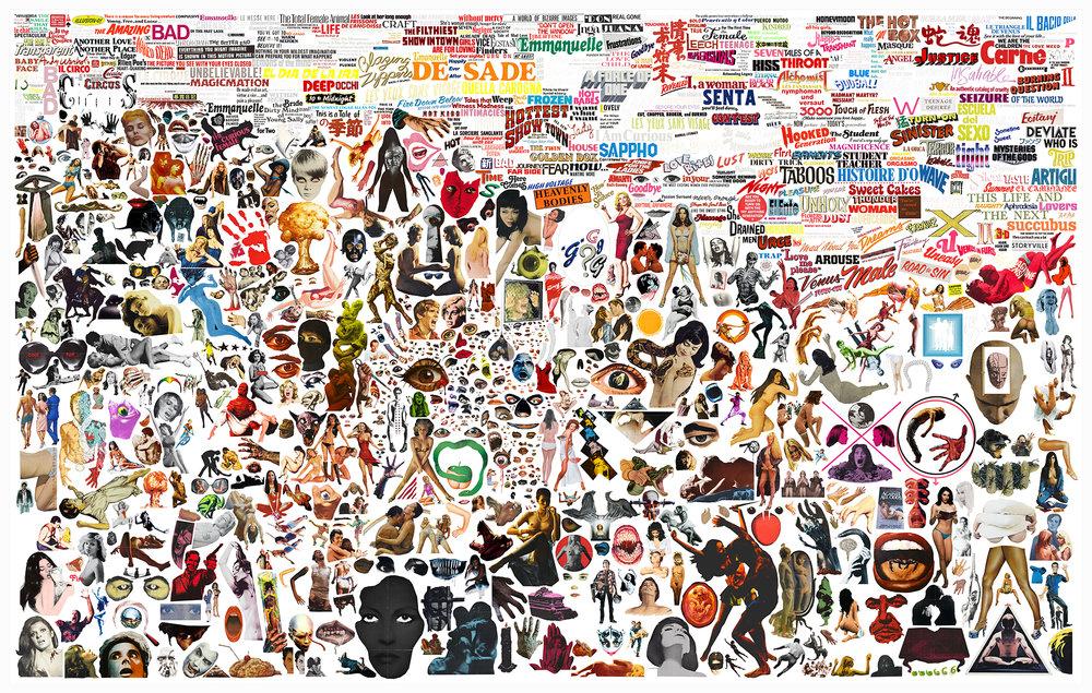 Case Simmons, Simmons & Burke, B-Movie Palette, Kohn Gallery, Cult Films, Lightjet Print, Digital Collage,Digital Art, Photoshop Collage, Contemporary Collage,Case Simmons Art, Case Simmons Artist, Collage Fine Art, Hyper Collage