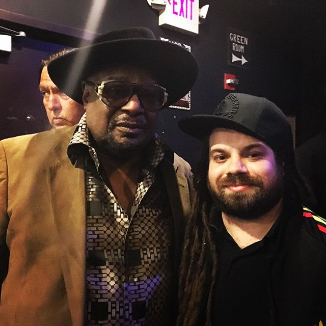 Dr. Funkenstien George Clinton and myself after a sold out show at @hobboston what a fun night🤘🏻🔥🎸 #funk #funkmusic #pfunk