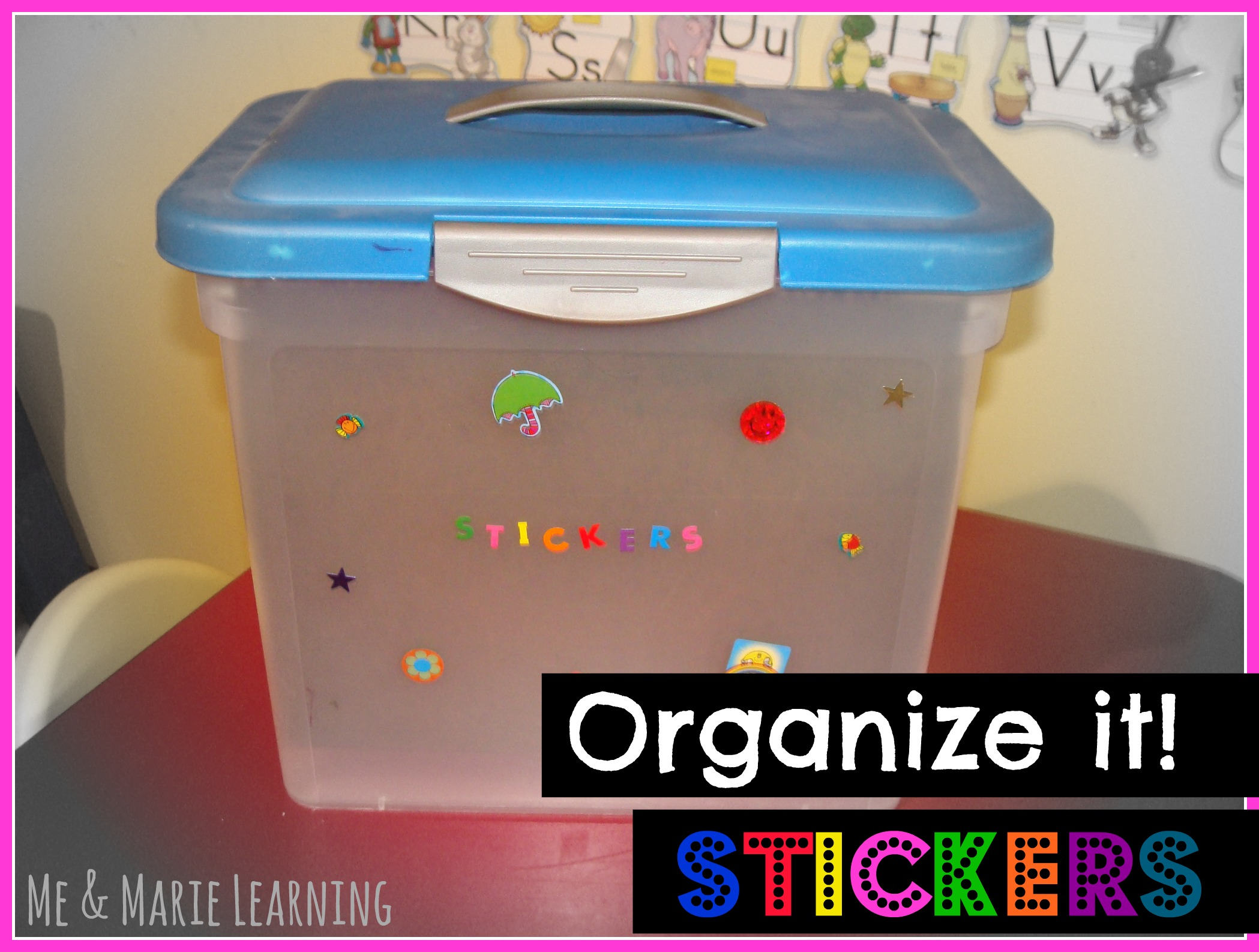 Organize stickers