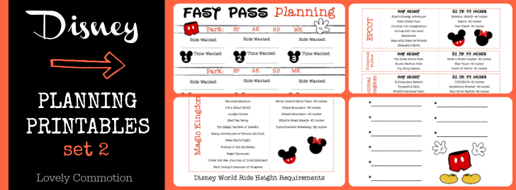 Disney Planning Binder With Printables Lovely Commotion