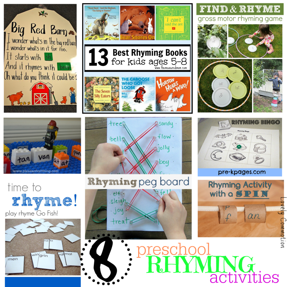 preschool rhyming activities