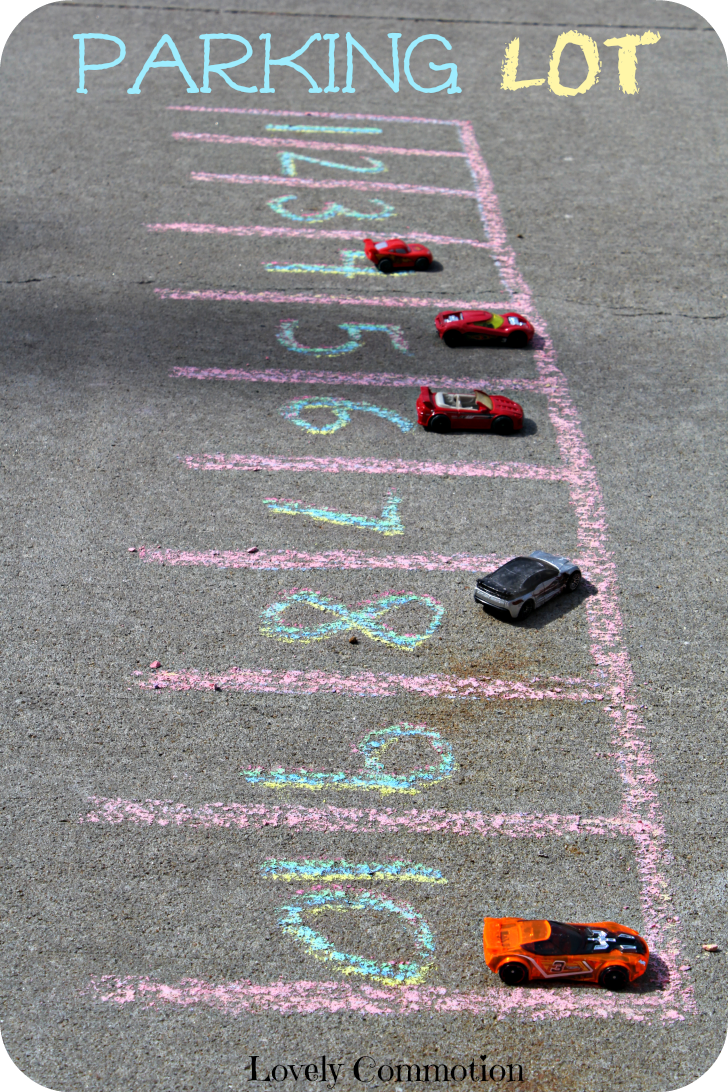 sidwalk chalk and cars