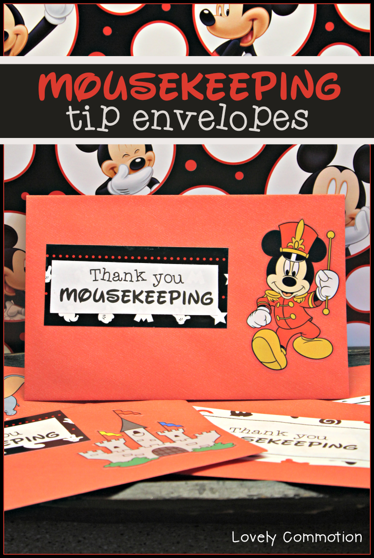 disney tip envelopes