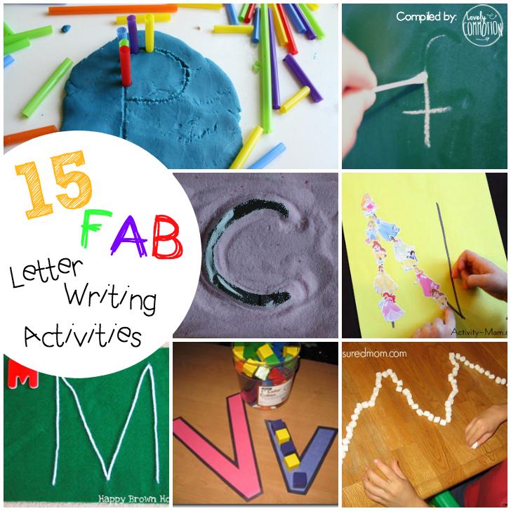 preschool letter writing activities