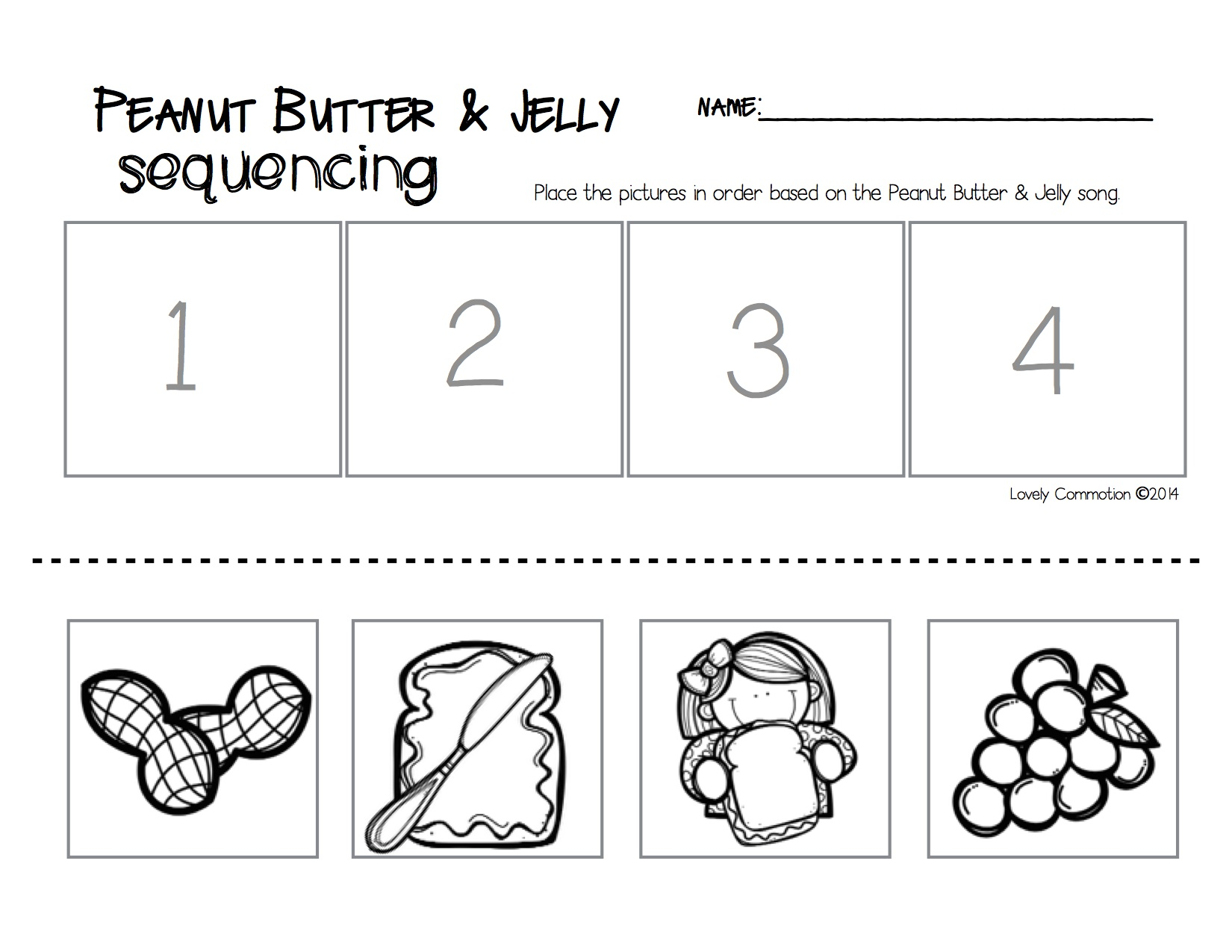 worksheet Sequencing Events Worksheets peanut butter jelly song and sequencing lovely commotion sandwich sequencing