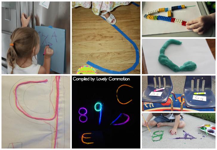 writing letters preschool