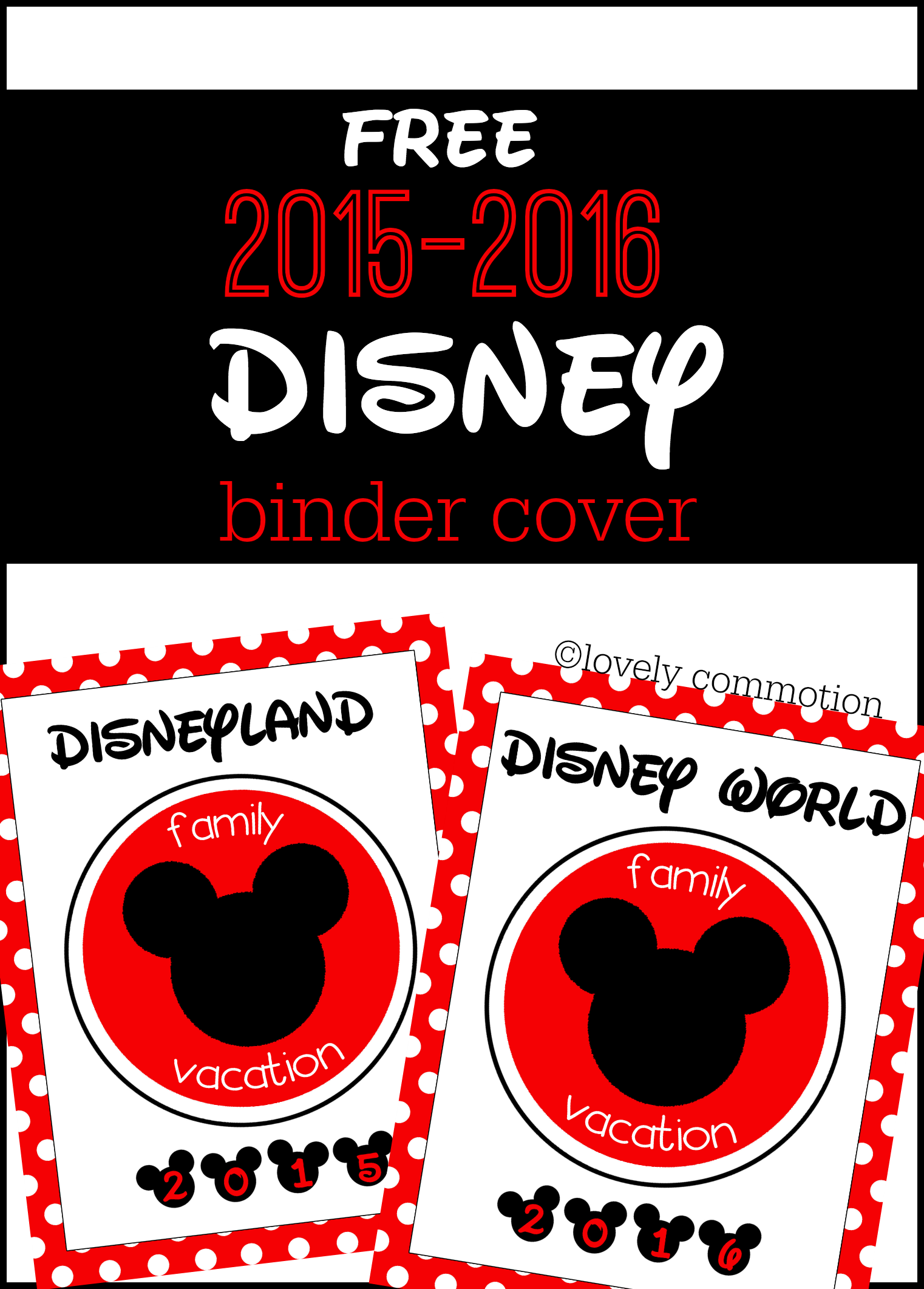 disney binder cover