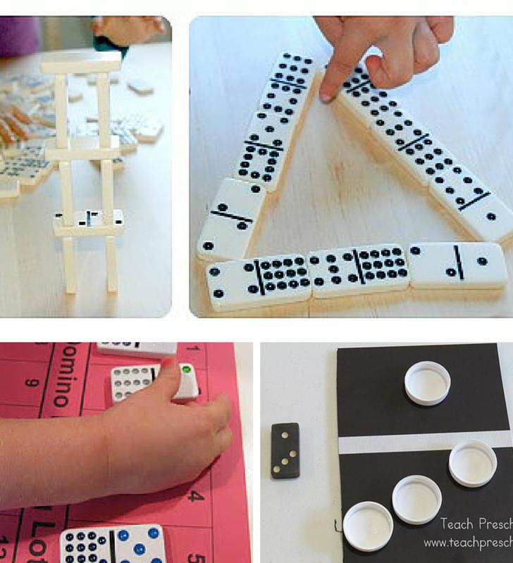 dominoes preschool learning