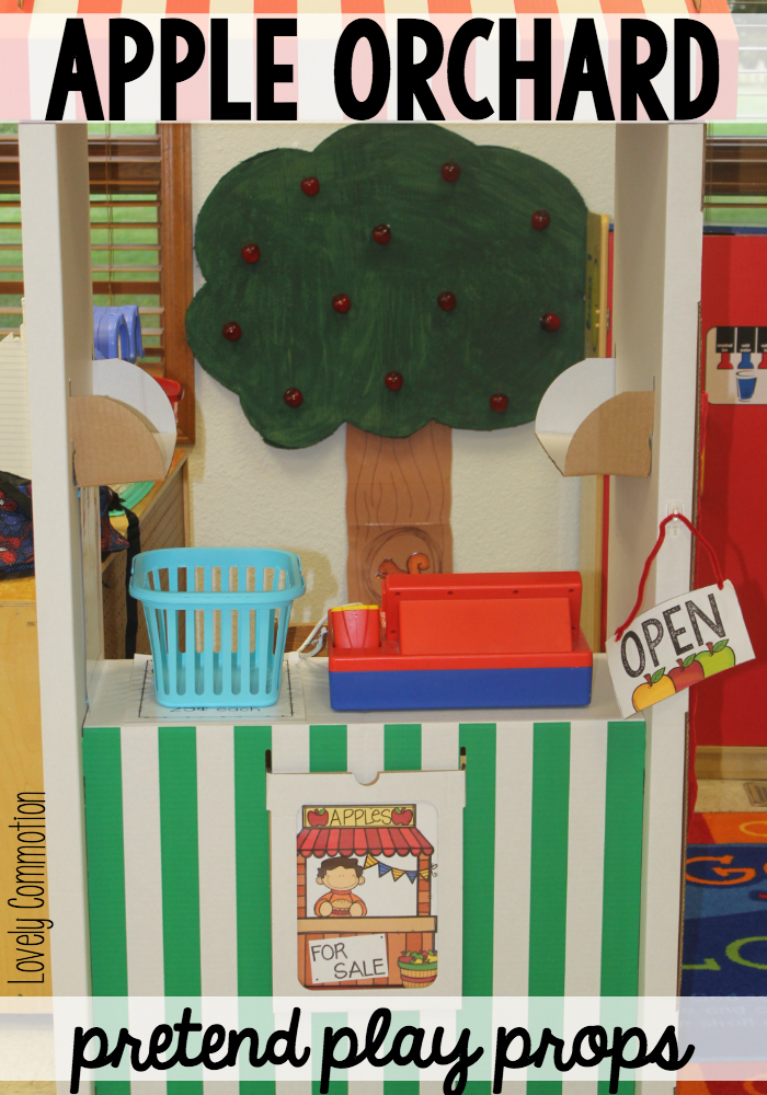 Fall is here and it is time for apple picking! Add this Apple Orchard Pretend Play Prop to your classroom for your Apple Unit.