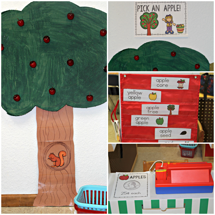 Create your own Apple Orchard in you classroom or playroom. Perfect for preschool kids!