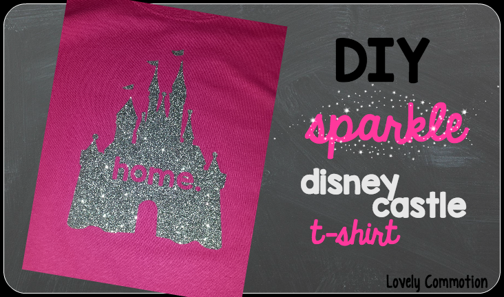 DIY disney castle t-shirt, the perfect craft for your upcoming Disney World vacation!
