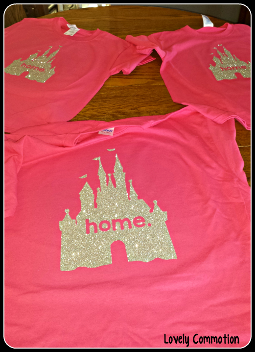 Home disney castle shirts, perfect diy craft for princess lovers!
