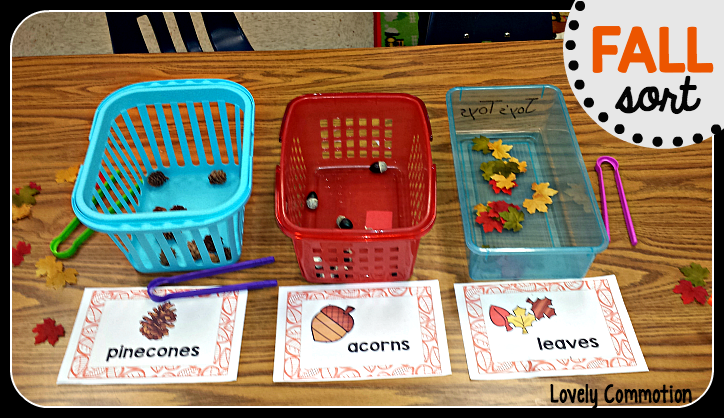 Help your preschoolers sort by object type with this fun Fall Sort! Students can sort objects using the free Fall Sort printables.