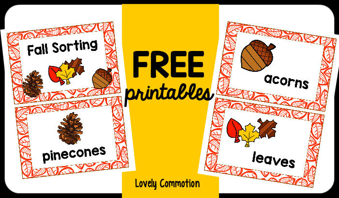 Use these Fall Sort FREE printables to get your preschoolers sorting!