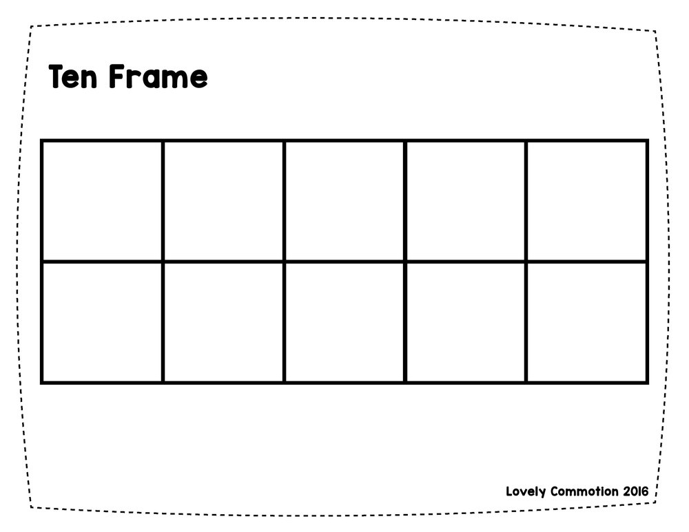 Crafty image with printable 10 frame