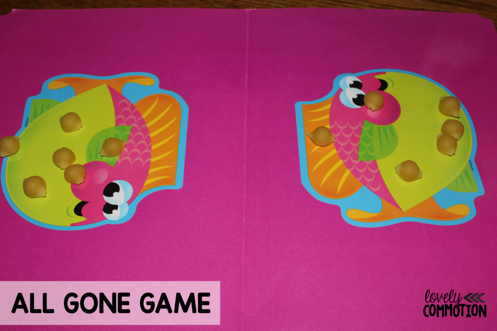 All Gone Math Game for preschool and kindergarten.