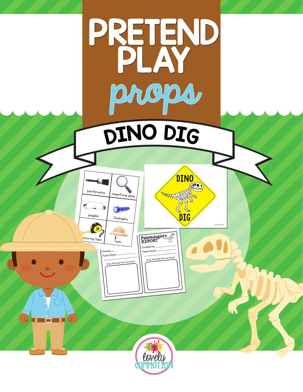 Pretend Play Dinosaur Dig