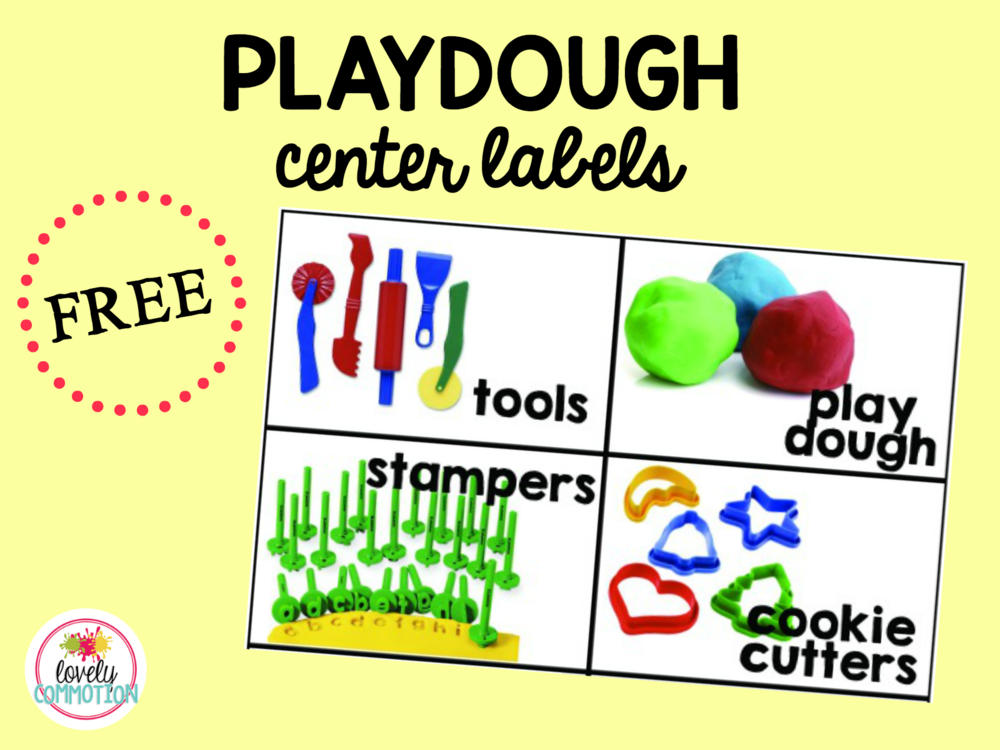 Playdough center in Pre-K