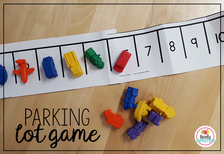 The parking lot game is a numeral recognition game that is a lot of fun to play!