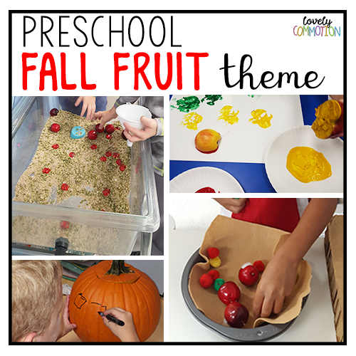 apple and pumpkin preschool activities