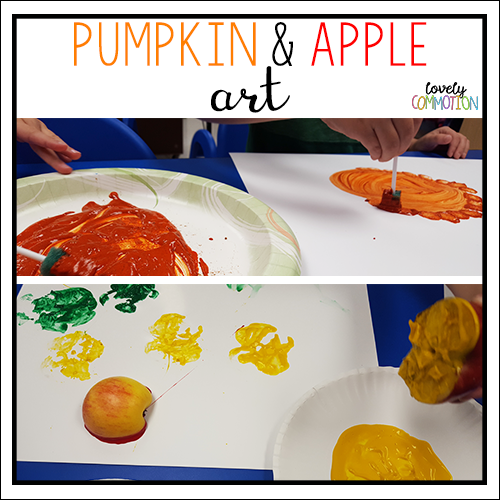 pumpkin and apple art preschool