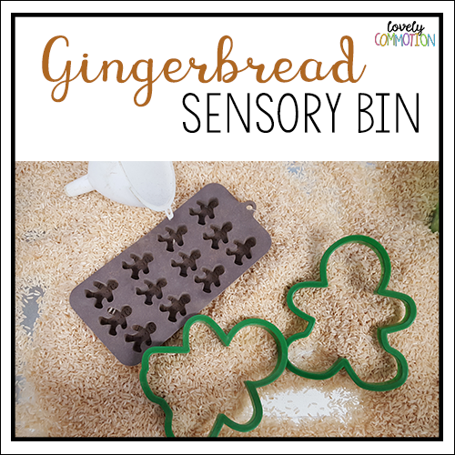 gingerbread preschool sensory tub