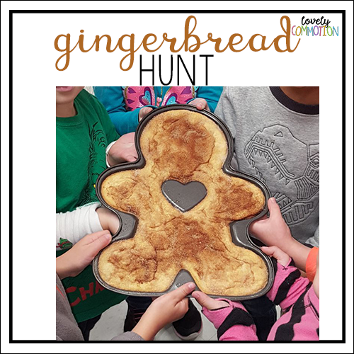 gingerbread hunt preschool activity