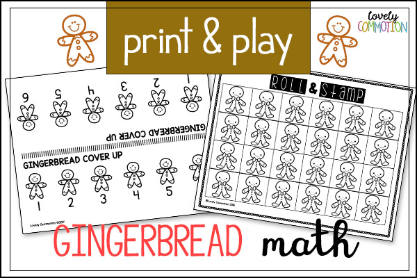gingerbread preschool math games