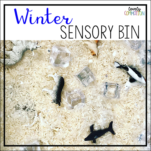 winter preschool sensory tub